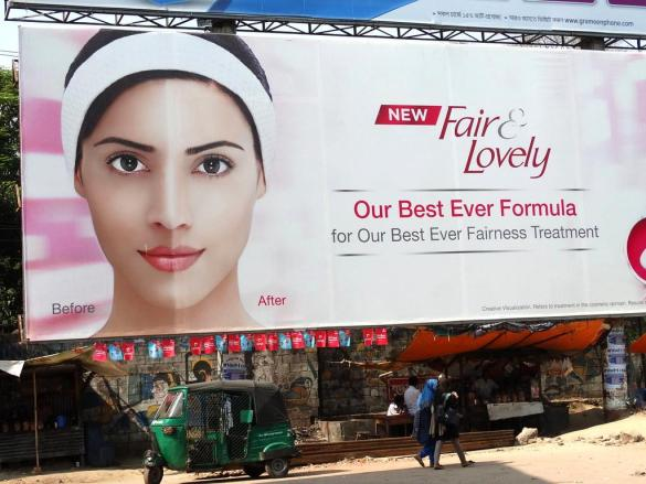Fair & Lovely promotes colorism in India.