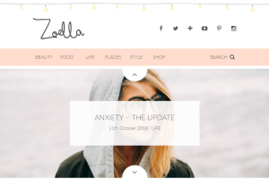 Screenshot of zoella.co.uk