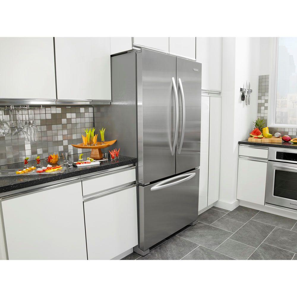 KFCS22EVMS KitchenAid Architect Series II 21 9 cu  ft  French Door  Refrigerator in Stainless Steel