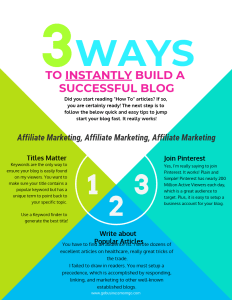 3 ways to instantly build a successful blog