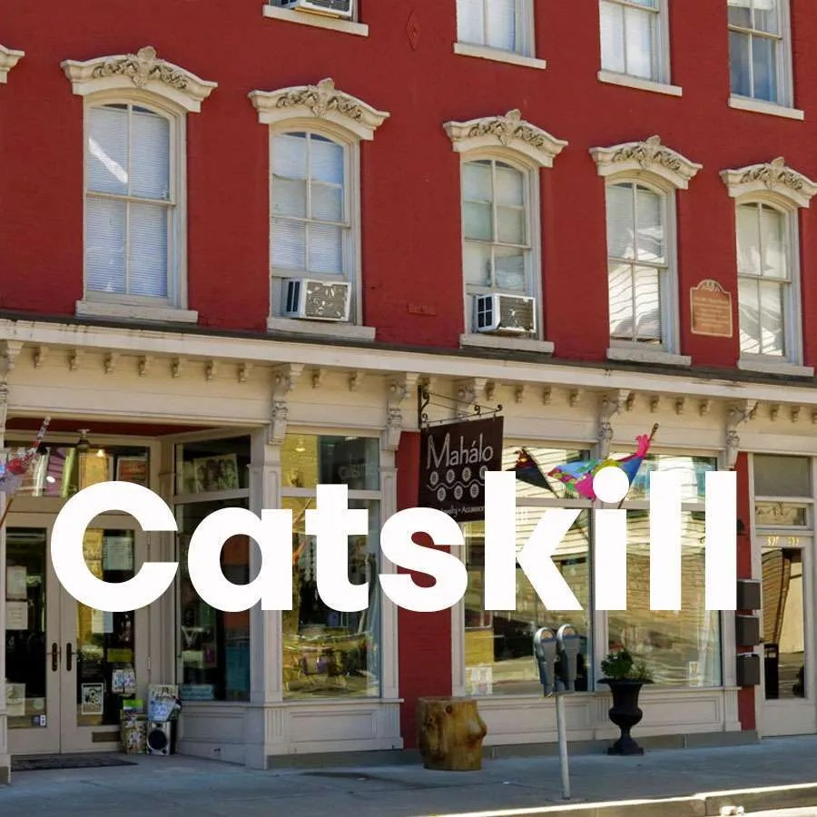 """Photo of Main Street in Catskill with a super across the photo that says """"Catskill"""""""
