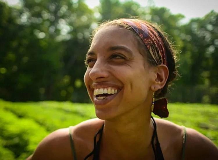 Leah Penniman of Soul Fire Farm smiles on their farm