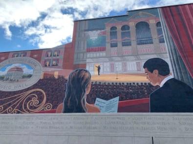 Mural at the Troy Savings Bank Music Hall