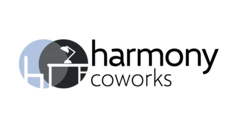 Logo & link to coworking spot Harmony Coworks
