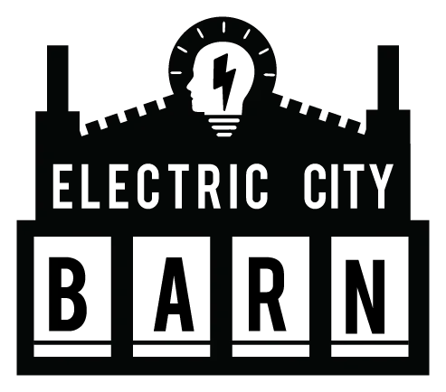 Logo & link to coworking spot Electric City Barn
