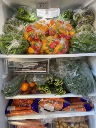 Full fridge vegetables