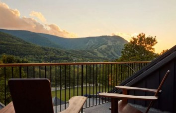 A view of the mountains from Scribner's Catskill Lodge