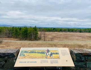 Historical reference at The Saratoga Battlefield