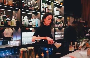 Charisse bartending