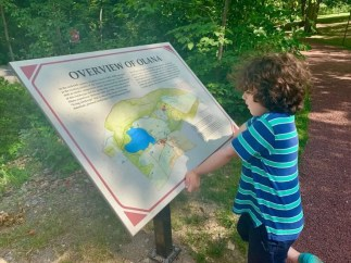 Child looking at an overview of Olana
