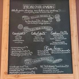 Bagel menu