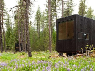Outside view of a tiny home