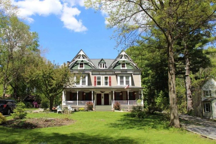 A gothic victorian home in Slingerlands historic district