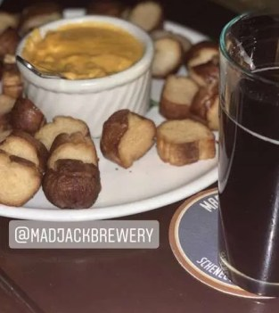 Beer and food at Mad Jack Brewery