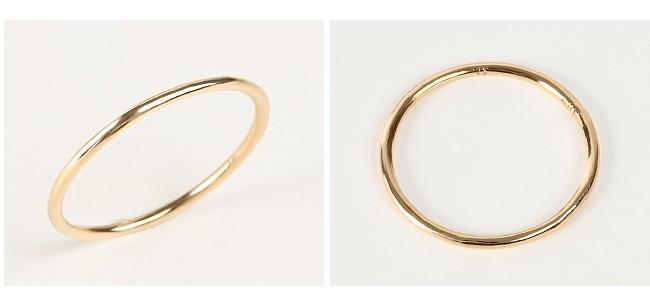 ゴールドの華奢なリング