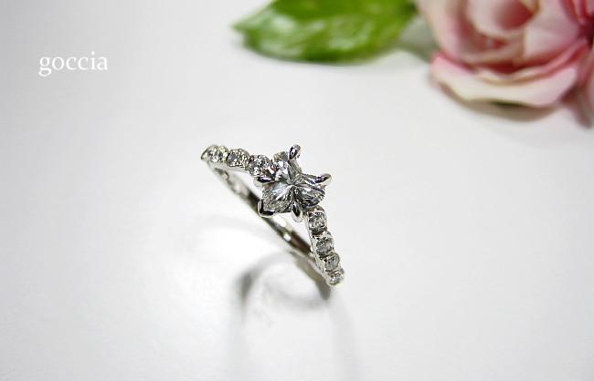 婚約指輪・ハートシェイプダイヤ