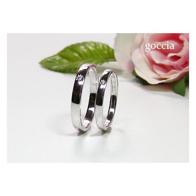 プラチナの結婚指輪・ダイヤ