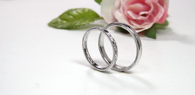 彫り・結婚指輪・マリッジリング