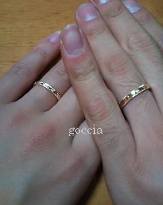 ミルグレインの結婚指輪・着用画像