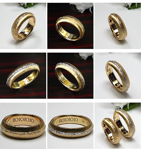 18金の結婚指輪