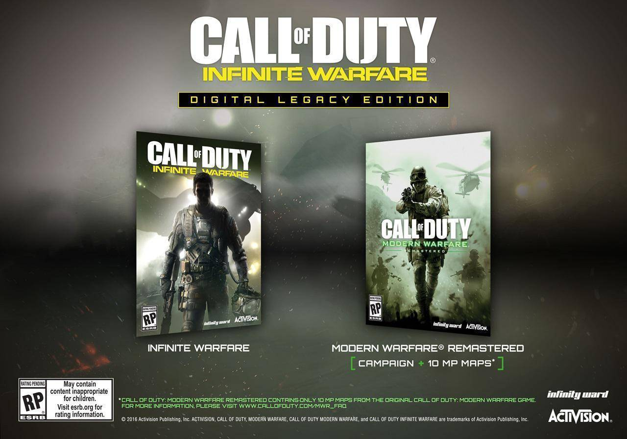 Acheter Call Of Duty Infinite Warfare Legacy Edition Pc Cd