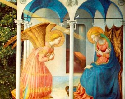 Corazón místico de Maria y Anunciación