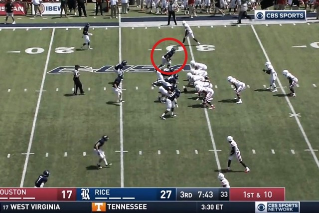 2nd play – Patrick Carr for 25 yards