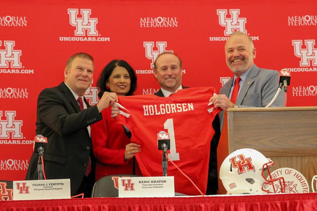 Dana Holgorsen introduced at Houston