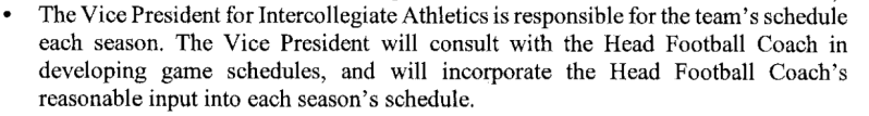 Similar clause in Holgorsen's MOU