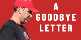 goodbye letter to Mark D'Onofrio