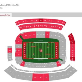 South side upper deck - 3 sections available for sale