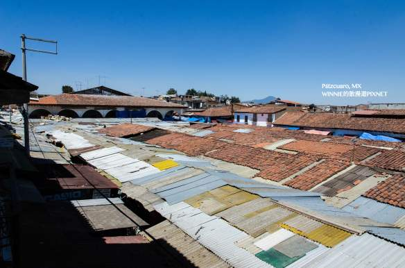 Our hotel roof offered a view of the entire local market