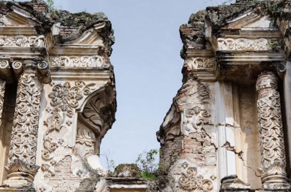 Columns of El Carmen Church Ruins