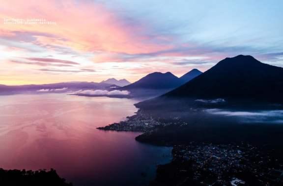 Sunrise Over Lake Atitlan