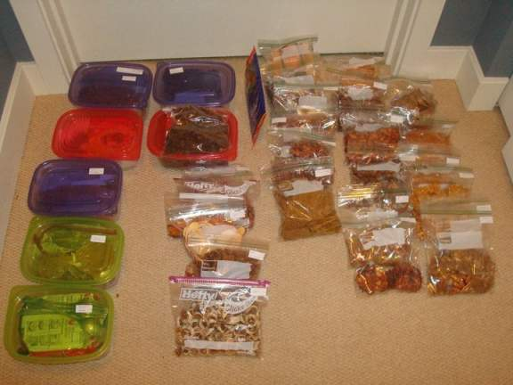 14 Days of Home Made Dehydrated Food