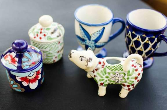 Mr. Moo and Tea Cups (all hand maid and hand painted)