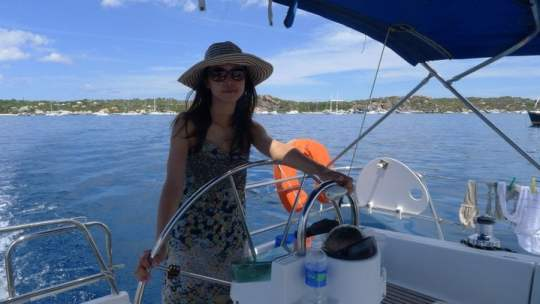 Captain Winnie at the Helm