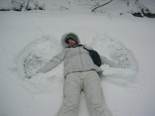 An Angel Making Snow Angels