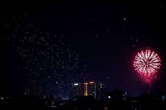 Sky Lanterns and Fireworks
