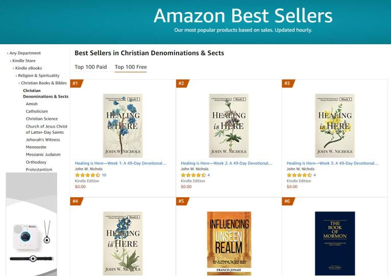 #1 Amazon Best Seller in Christian Denominations Free Category
