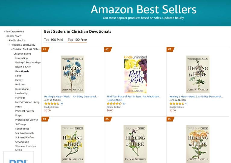 #1 Amazon Best Seller in Christian Devotionals Free Category