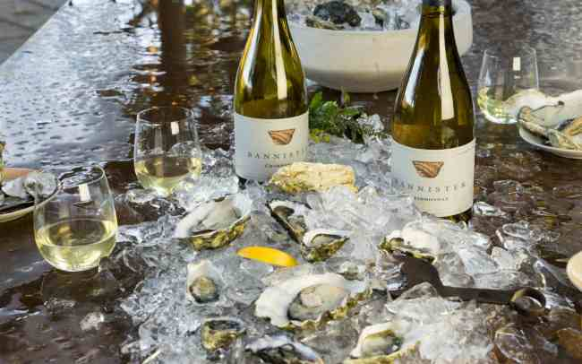 Bannister Chardonnay and Oysters