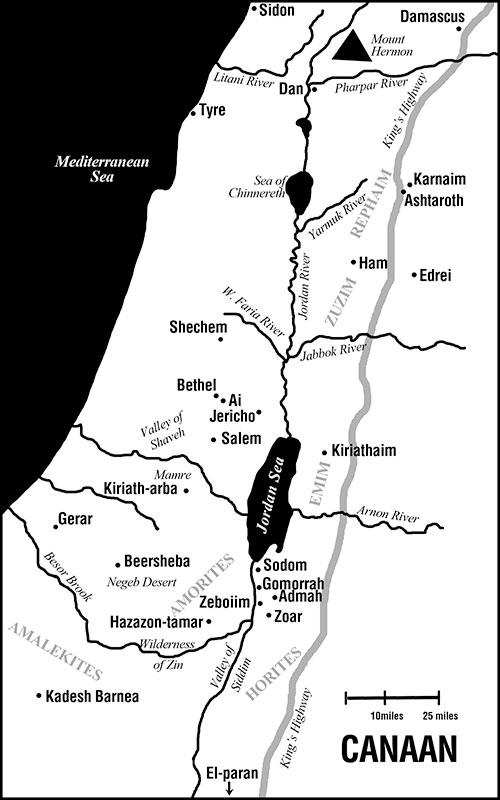 Map-Canaan