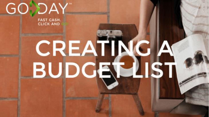 Creating A Budget List