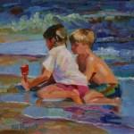 Boy and Girl at the Beach by Elizabeth Blaylock