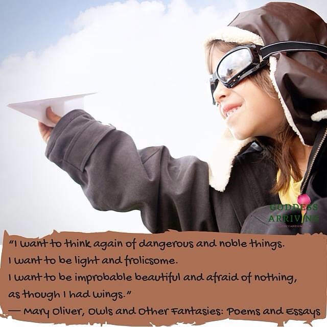 """I want to think again of dangerous and noble things.
