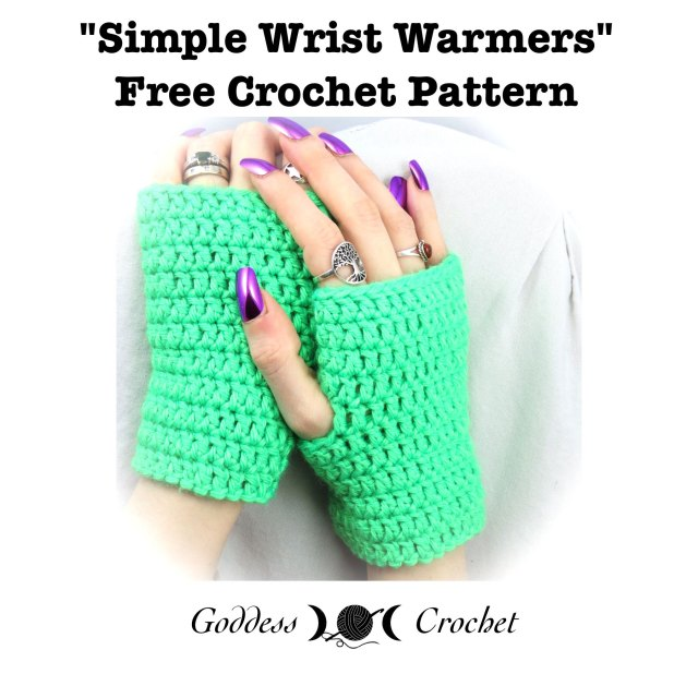 Simple Wrist Warmers Free Crochet Pattern Goddess Crochet