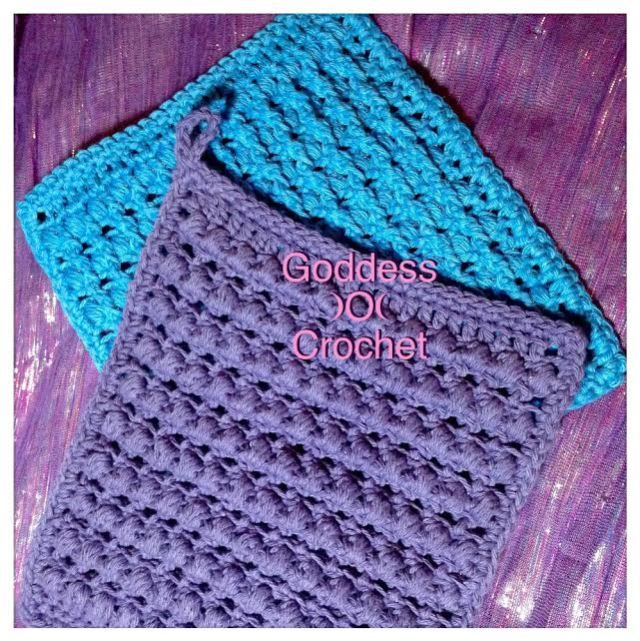 Thick And Bumpy Potholder Free Crochet Pattern Goddess Crochet