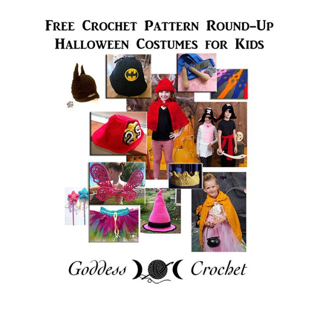Halloween Costume Crochet Patterns for kids, children