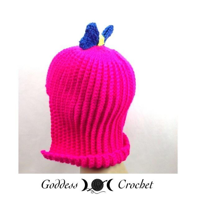 Crochet hat wig pattern, free crochet pattern, crochet wig